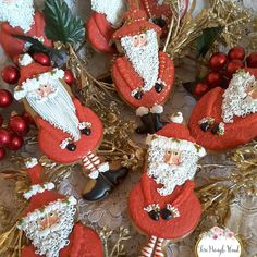 Perfume bottle Santa cookies by Teri Pringle Wood