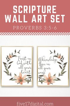 This Scripture print set from Proverbs is a great gift for any Christian home. Celebrate a confirmation or give to a young woman as she moves forward in her life. Handmade Shop, Etsy Handmade, Handmade Items, Printable Bible Verses, Printable Wall Art, Wall Art Sets, Wall Art Prints, Scripture Wall Art, Wooden Wall Art