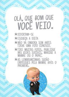 Cartao Agradecimento Quadro Poderoso Chefinho Baby Birthday Themes, Boy First Birthday, Boy Birthday Parties, Happy Birthday, Boss Baby, Mickey Party, Baby Party, First Birthdays, Bernardo