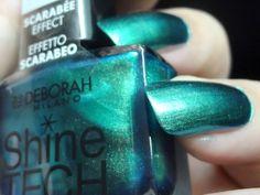 Parola di Deirdre!: Deborah shine tech scarabee effect  #Deborah Milano, #Nail Polish Deborah Milano, Shinee, Nail Polish, Make Up, Nails, Beauty, Finger Nails, Ongles, Nail Polishes