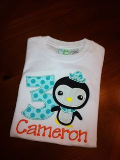 Octonauts Custom birthday shirt by TodayApplique on Etsy, $23.00