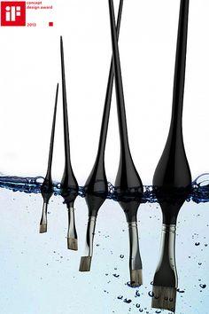 해외) 붓을 물에 담궈두면 가라앉는데 중간에 물을 가라앉지않게 만들어 사용하기에 편리하게 만들었다.