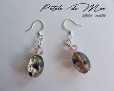 Petale de Mac Mac, Drop Earrings, Handmade, Jewelry, Jewellery Making, Hand Made, Jewels, Jewlery, Jewerly