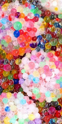 Warm and Cold Sensory Play with Water Beads - Learn Play Imagine