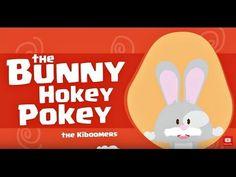 Bunny Hokey Song for Preschoolers - Hokey Pokey Dance for Kids - Easter Songs for Children Easter Songs For Kids, Easter Videos, Music For Kids, Kids Songs, Preschool Action Songs, Preschool Music, Preschool Gymnastics, Teaching Music, Preschool Worksheets