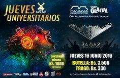 """El Molino presenta: """"Jueves Universitarios con Radar"""" http://crestametalica.com/events/el-molino-presenta-jueves-universitarios-con-radar/ vía @crestametalica"""