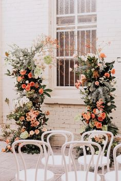 organic peach-toned floral wedding arch Source by karinesophie Wedding Aisles, Wedding Altars, Wedding Ceremony Decorations, Ceremony Backdrop, Wedding Bouquets, Arch Wedding, Wedding Ideas, Wedding Mandap, Stage Decorations