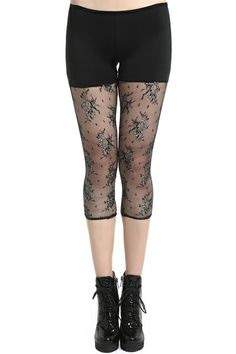 Black Color Hit Lace Leggings. Description Leggings, featuring an elastic waist, black color design on upper part, while dual-tone lace design on lower body, with hollow styling. Fabric Spandex and Lace. Washing Cool hand wash. #Romwe