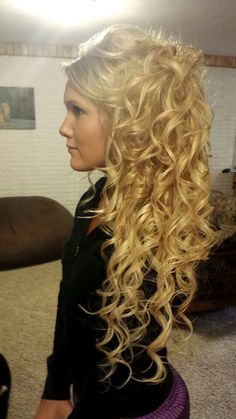 My long curly prom hair