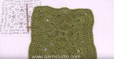 mattonella uncinetto originale per coperta schema e video