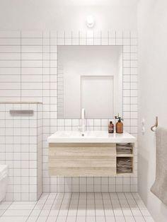 Chic et géométrie dans une salle de bain scandinave, Paris, Marie ...
