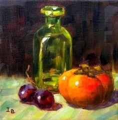 "Daily Paintworks - ""Persimmon"" - Original Fine Art for Sale - © Irina Beskina"