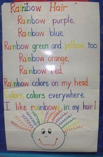 Mrs Jump's class: Search results for beginning of year Kindergarten Poetry, Kindergarten Colors, Preschool Colors, Teaching Colors, Preschool Songs, Kindergarten Classroom, Classroom Ideas, Teaching Ideas, Preschool Gymnastics