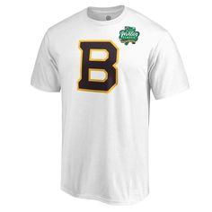 868b1d0e1 Men s Boston Bruins Fanatics Branded White 2019 NHL Winter Classic Primary Logo  T-Shirt