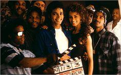 "Michael Jackson on the set of ""The way you me feel"" video set"
