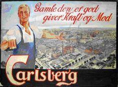 1926 г. Рекламный плакат завода «Старый Карлсберг» (Gamle Carlsberg).