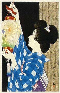 Gifu Paper Lantern  by Ito Shinsui, 1930  (published by Watanabe Shozaburo)