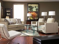 Devon with Glass on Glass Living Room Set (via @CORT Furniture)