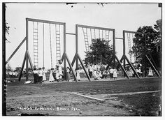 The Bronx in 1910 - Look how high they let you climb in a park back then!
