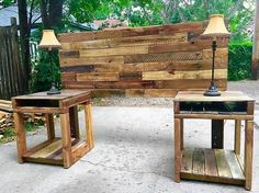 From thousands of ideas of creating the headboard and the side tables for the bedroom by reclaimed wooden pallets, here is one idea which is showing the creativity of the individual who made it. No one can say it's something inferior to the furniture available in the market for the bedroom.