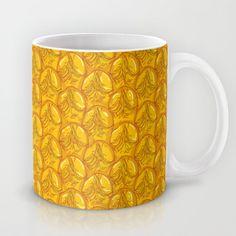 Pineapple peel seamless background. Mug by EkaterinaP - $15.00