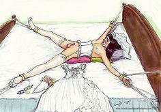 feminization bondage in wedding outfit