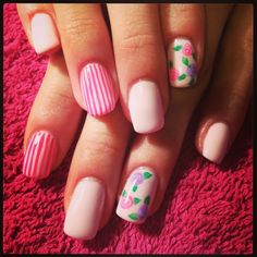 Candy stripes & roses