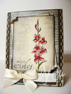Renee's Wedding Card by Yvette - Cards and Paper Crafts at Splitcoaststampers Fast and Fabulous - SU