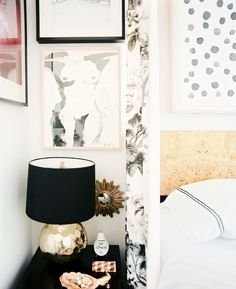 Bedroom with nude art gallery wall