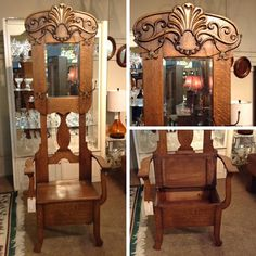 Hall Tree - Antique Hall Tree w/ Storage - $338.95
