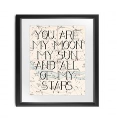 Instant Download // You are My Moon My Sun and by BlairPrintables #GameofThrones Game of Thrones Printable Art #khaleesi #Drogo