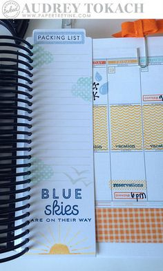 Vacation Packing List by Audrey Tokach for Papertrey Ink (June 2015)