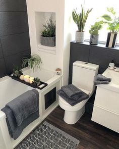30 affordable small bathroom design ideas for exceptional look 28 Sweet Home, Beautiful Bathrooms, Small Grey Bathrooms, Small Bathroom Designs, Tiny Bedroom Design, Bathroom Interior Design, Home Decor Inspiration, Bathroom Inspiration, Home And Living