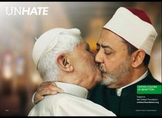 #Campaign of Benetton with El Papa Benoît XVI and the imam sunnite Mohamed Ahmed Al-Tayeb