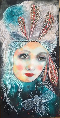 This is a 6x12 mixed media painting on wood. Sides are 1.5 and are painted…