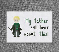 Cross Stitch Pattern Draco Malfoy Quote from Harry by Kiokiz