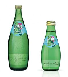 Perrier limited edition bottles with andy warhol