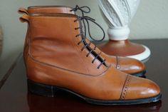Gaziano & Girling Canterbury Captoe Vintage Chestnut Calf GG06 UK 8E 8.5D | Clothing, Shoes & Accessories, Men's Shoes, Dress/Formal | eBay!