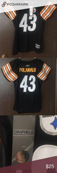 Steelers Polamalu Jersey-Large, women's cut Women's cut authentic steelers jersey. Team NFL Reebok. Women's Large Reebok Tops