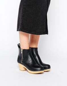 Swedish Hasbeens Zip It Emy Ankle Boots