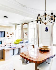 $6 Million Pretty Paris Apartment #MillionDollarRealEstate #PrettyParisianStyle #ParisianLiving