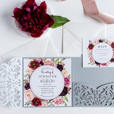 www.elegantweddinginvites.com wp-content uploads 2017 03 burgundy-floral-silver-laser-cut-wedding-invitations-EWWS177.jpg