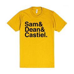 Sam, Dean, Castiel