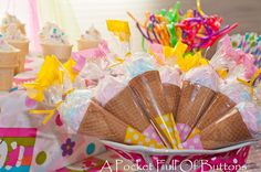A Pocket Full Of Buttons: Hello Kitty Ice Cream Social Birthday Party