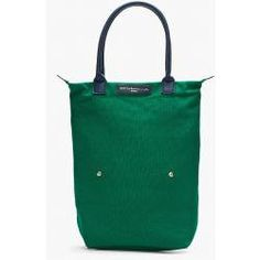 Want Les Essentiels De La Vie Emerald Green Organic Cotton Orly Roll Tote. #ColorOfTheYear #Pantone #Emerald