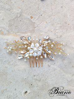 Bridal Comb Wedding Hair Comb Swarovski Comb Pearl Comb