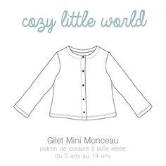 Image of NOUVEAU - Patron PDF - Gilet Mini Monceau (5A-14A)