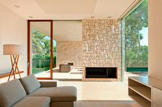 El Bosque House was designed with interiors having continuous visual connection to nature by Ramon Esteve Estudio, on a forested site in Chiva, Spain. Villa Design, House Design, Home Connections, Interior Architecture, Interior Design, Forest House, Beautiful Homes, House Plans, Sweet Home