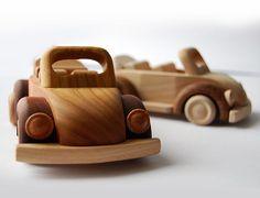 Zabawki drewniane - naturalne » Garbus kabrio - Sklep - Happy Wood - Ekologiczne i Naturalne Zabawki Drewniane, Klocki Drewniane