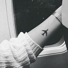 Imagem de tattoo, travel, and airplane